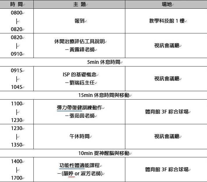 3月30日機構教保人員增能課程